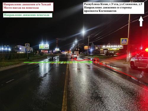 Фото В Ухте сбили женщину на пешеходном переходе