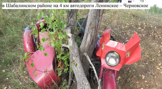 Фото В Кировской области женщина на мотоцикле врезалась в дерево и погибла