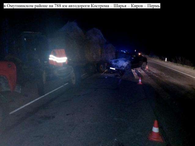 Фото Четыре человека пострадали в результате ДТП в Омутнинском районе