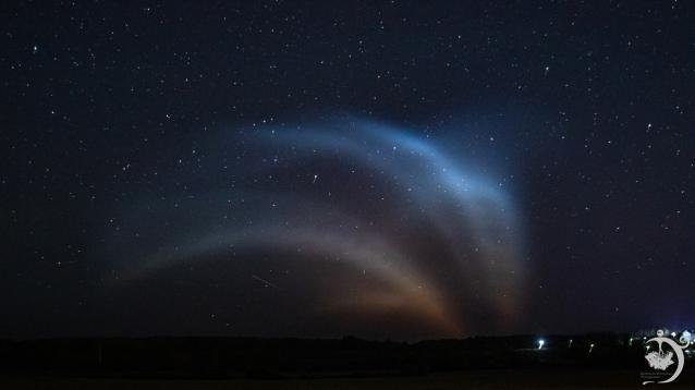 Фото Жители Котельнича наблюдали «медузу» от запуска ракеты-носителя