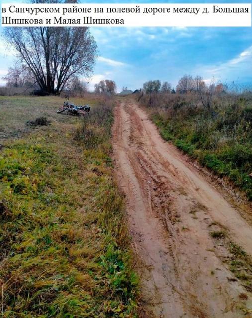 Фото В Санчурском районе бесправник на мопеде перевернулся на полевой дороге