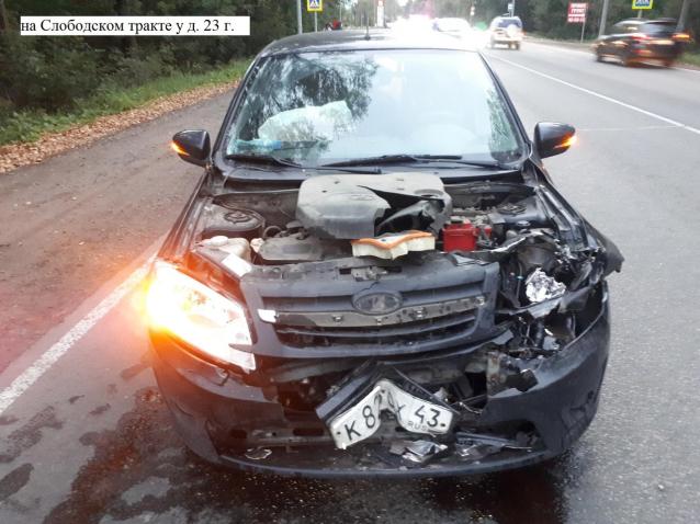 Фото В Кирове при столкновении «Гранты» и «Субару» пострадали четыре человека
