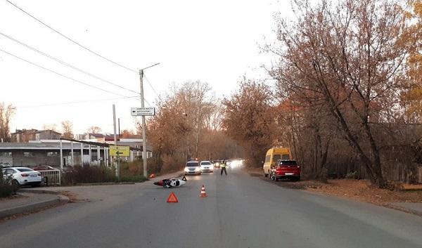 Фото В Кирове водитель «Лады» сбил мотоциклиста