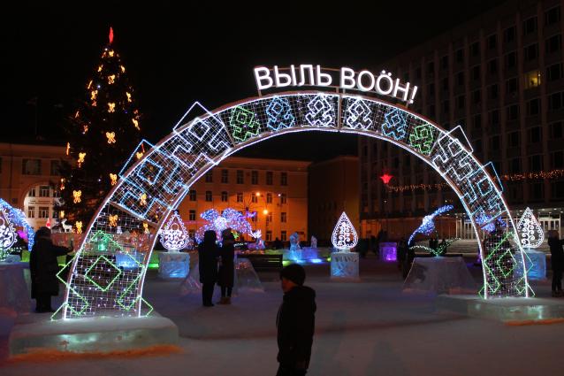 Фото В столице республики началась подготовка к Новому году
