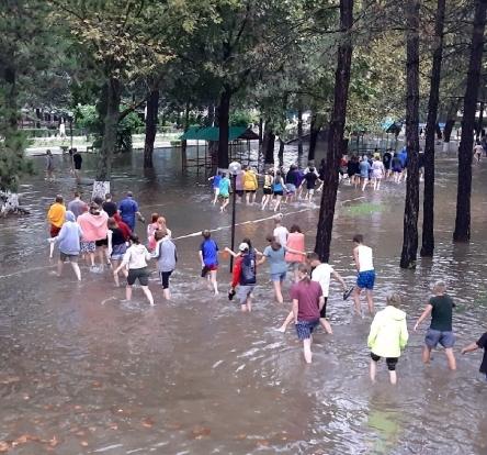 Фото Принадлежащий Коми детский санаторий в Анапе восстанавливают после наводнения