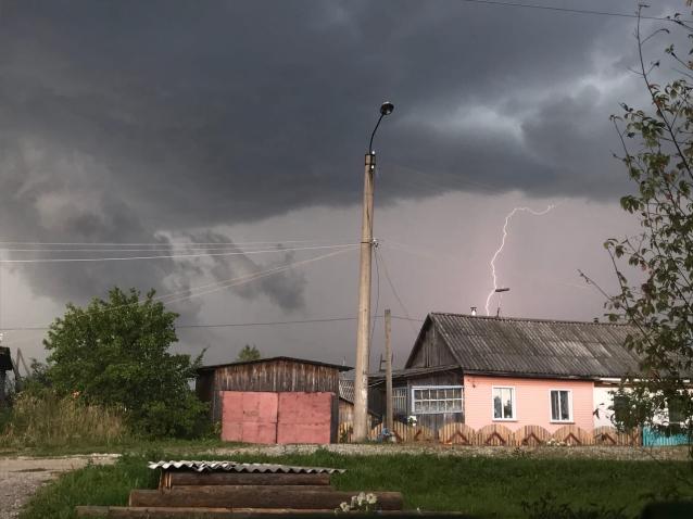 Фото В Мурашинском районе ураган вырвал с корнем деревья и повредил строения