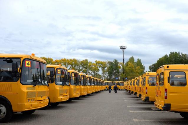 Фото Кировская область получила 68 новых школьных автобусов