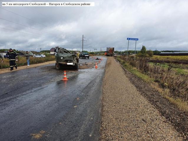 Фото В Слободском районе водитель «УАЗа» пострадал в тройном ДТП