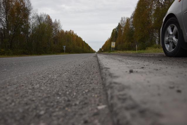 Фото Километровый участок дороги под Ухтой отремонтируют к 1 ноября