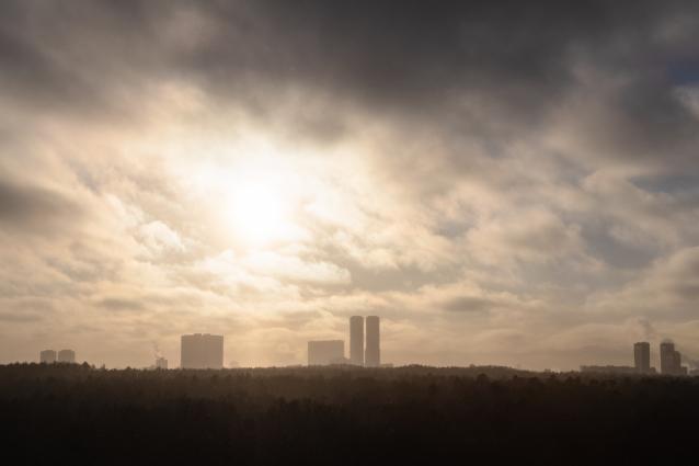 Фото Радужный вчера покрыл дым с резким химическим запахом