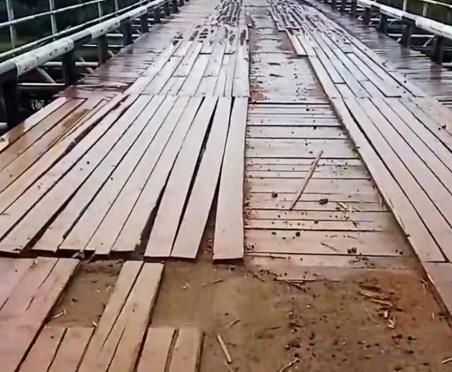 Фото Власти Вуктыла после прокурорской проверки должны восстановить мост