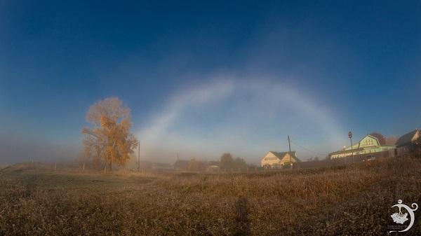 Фото Жители Котельнича наблюдали туманную радугу