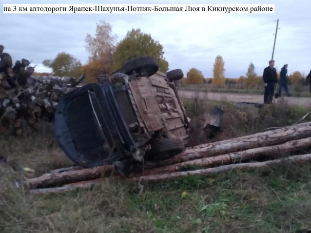 Фото В Кировской области «Киа» вылетела в кювет и перевернулась