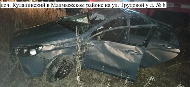 Фото В Кировской области пьяная женщина на «Ладе» вылетела в кювет и перевернулась